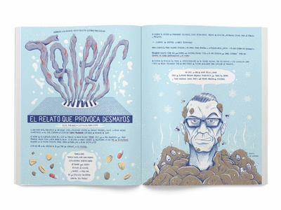 Tripas - Guts haunting illustration folletín ilustrado chuck palahniuk palahniuk tripas guts