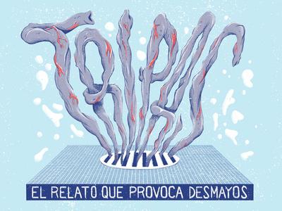 Tripas - Guts magazine print press design intestine illustration lettering guts tripas