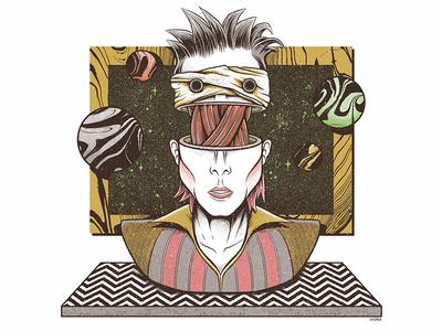 David Bowie david bowie twin peaks space gate dimension interdimensional planets interstellar lazarus ziggy stardust bowie surrealism editorial weird press yorokobu print magazine illustration design