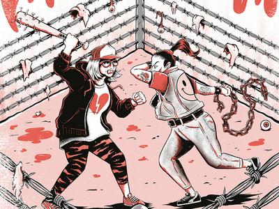 Duelo a Garrotazos gang chain beat rumble royal rumble fight editorial weird press print yorokobu magazine design illustration