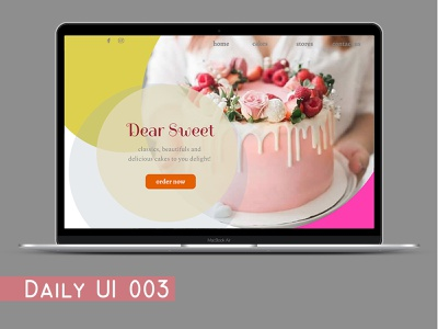 Daily003 - Landing Page dailyui03 dailyui ui design ux daily 100 challenge