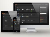 cP Starter Dark minimalistic dark clean web application ui dashboard cpanel