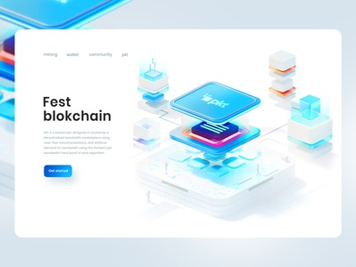 Blockchain illustration cgi blockchain artdirection landing crypto webdesign ux ui designs illustration 3d art 3d