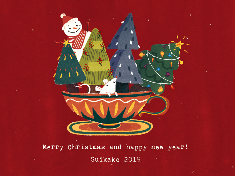 Merry Christmas and happy new year! mouse lunar chinese new year christmas