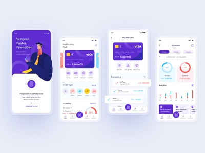 Mobile Banking | Design Exploration mobilebanking banking illustration vector uxdesign ux uidesign mobile app design app ui