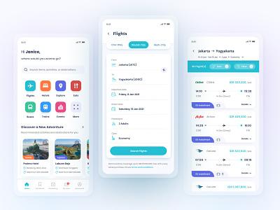 Flight Ticket Booking Apps | Design Exploration minimal design clean ui flight booking flight app mobile ui mobile app design mobile app app uxdesign ux ui uidesign design