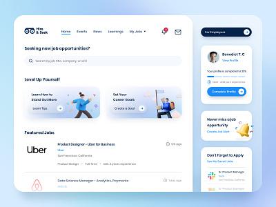 Job Search Platform Dashboard | Design Exploration dashboard design job portal job search dashboard ui ux uxdesign ui uidesign design