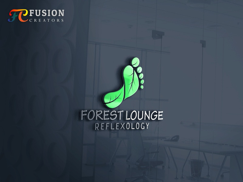 Forest Lounge Logo design project typography fusioncreator branding vector icon logo presentation logo design illustration logo design