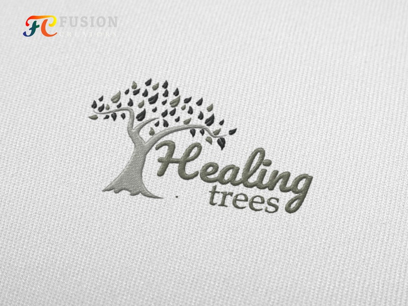 healing tree Logo design project art work designer typography logo web vector fusioncreator logo presentation design illustration logo design