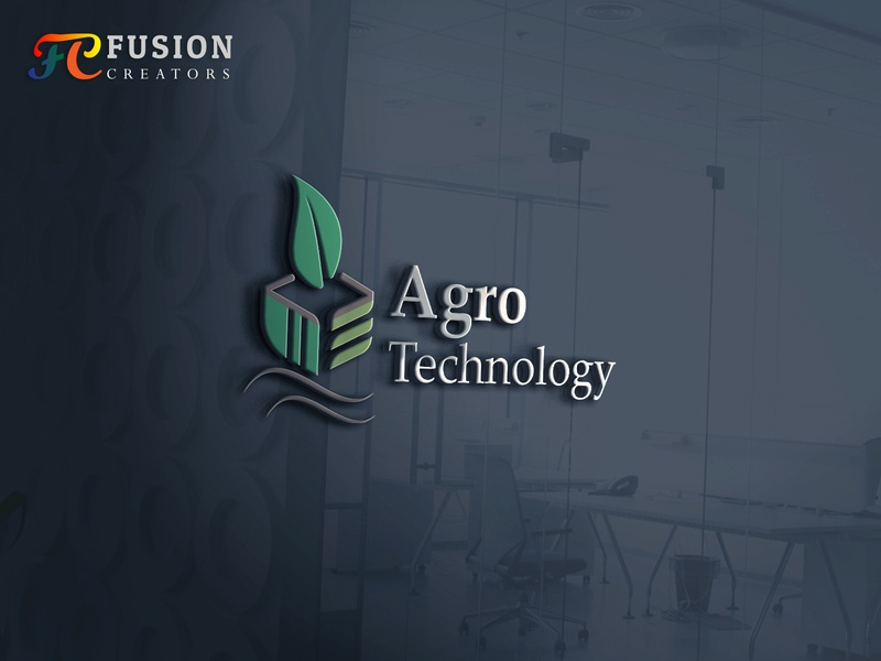 Agro technology  logo design typography fusioncreator vector icon branding logo presentation design logo illustration logo design