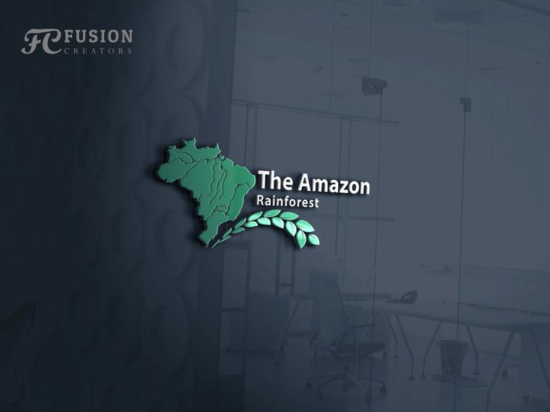 The Amazon Rainforest designer fusioncreator design vector logo presentation logo branding illustration logo design