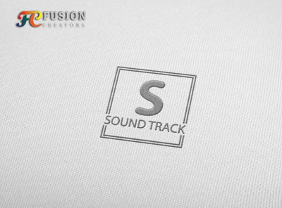 Sound track designer typography icon fusioncreator logo presentation illustration branding logo design logo design