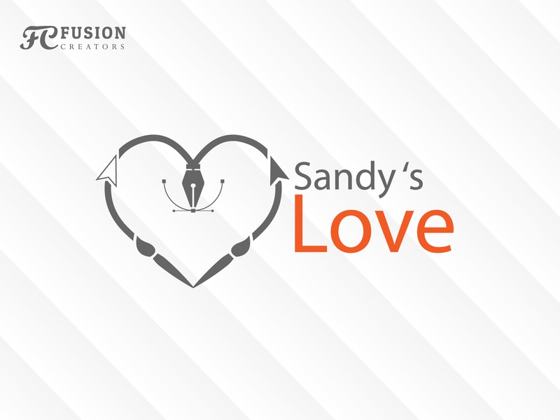 Sandy s love typography vector fusioncreator logo branding logo presentation illustration design logo design