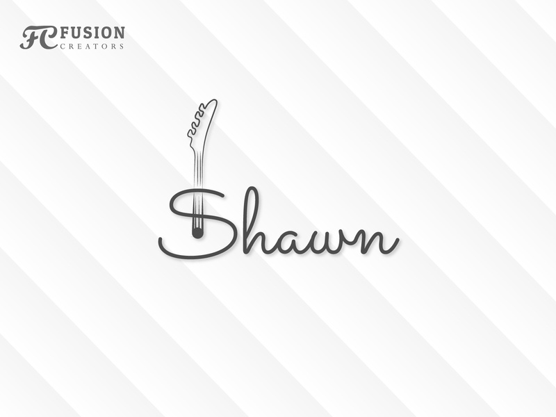 Shawon typography icon vector fusioncreator logo presentation logo branding illustration design logo design