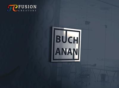 Buch anan designer icon typography fusioncreator vector logo presentation logo branding illustration design logo design