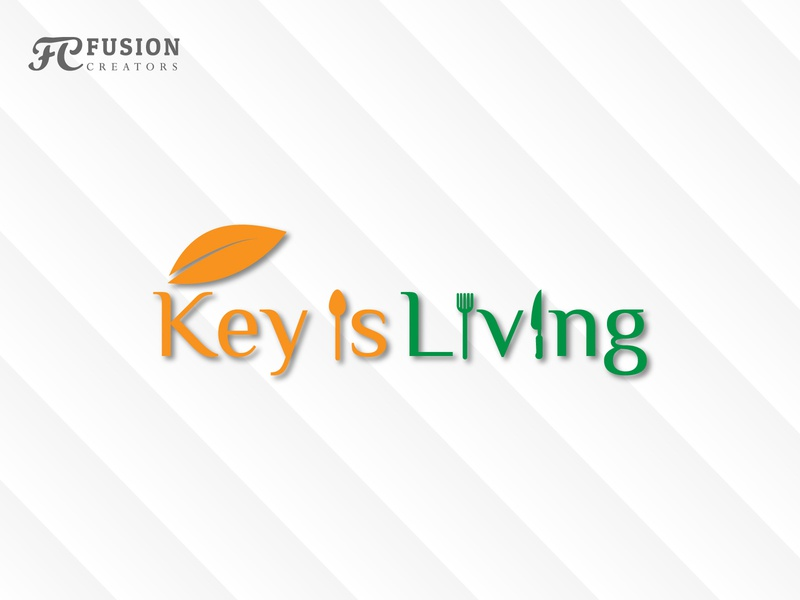key is Living typography icon fusioncreator vector logo logo presentation branding design illustration logo design