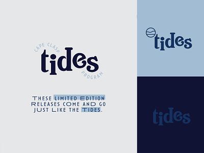 CC:TIDES design cape cod brand program ocean tides typography type logo branding cape clasp