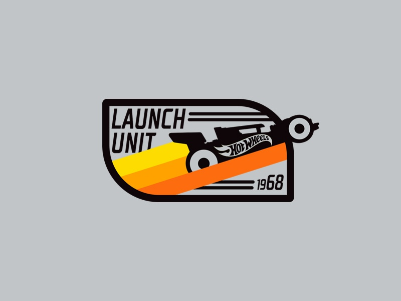 Launch Unit silhouette illustration design pilot licensing art vector badge cars hot wheels