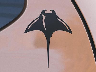 Manta Ray Campaign decal design sticker cape clasp cape cod ray ocean manta ray