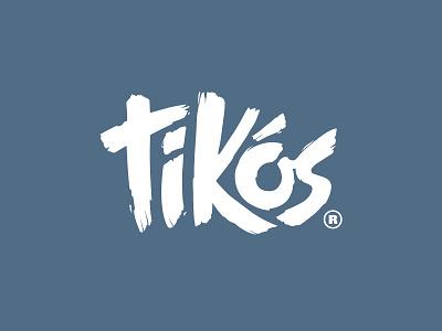 Tikos Final Logo boston cape cod vector type branding typography design cape clasp logodesign lettering logotype logo
