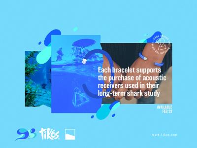 Season 02: Exuma shark bahamas exuma blue collage ocean type cape cod pattern cape clasp design illustration