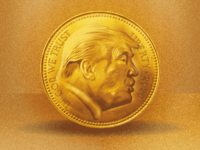 one yuge gold coin