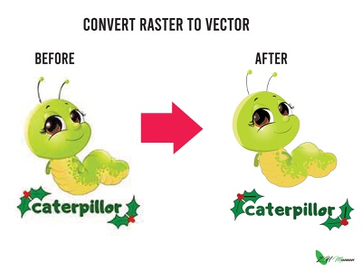 Image Trace illustraion raster to vector tracing