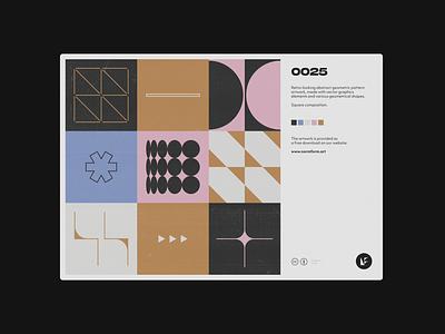 0025 midcentury abstract artwork background freebie postmodern geometric modernism pattern vector daily art colors design minimal poster mural geometry tech illustration
