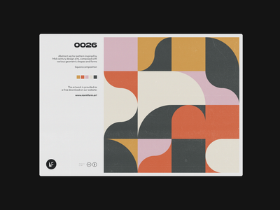 0026 abstract artwork background freebie postmodern geometric modernism pattern vector daily art forms colors design minimal poster print geometry midcentury illustration