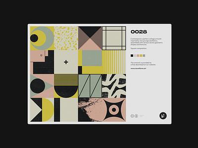 0028 abstract artwork freebie postmodern geometric pattern vector daily art colors design poster print geometry midcentury illustration vintage retro graphic texture