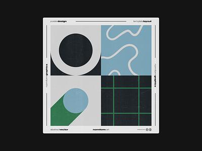 0032 abstract artwork freebie vector square geometric pattern poster poster art print design shape geometry illustration modern art brutalism grid color minimal
