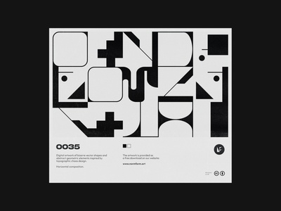 0035 print web simple brutalism modern illustration minimalist minimal form design modernism vector geometric pattern art poster font artwork letters abstract