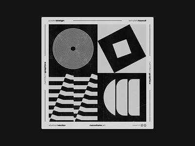 0036 abstract artwork freebie vector square geometric pattern poster logo print design shape bold illustration modern art brutalism black color minimal