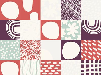 0037 geometr illustration modern art pastel doodle colors draw
