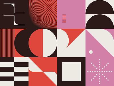 0084 retro daily art forms colors design minimal poster print geometry midcentury illustration branding shape freebie pattern artwork geometric vector abstract