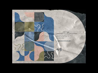 0088 naive artwork wallpaper design illustration art pastel doodle colors draw geometry shape minimal modern poster pattern freebie geometric vector abstract