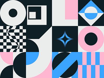 0094 poster art print design shape illustration grid color simple shapes minimal modern geometry art freebie artwork pattern geometric abstract vector