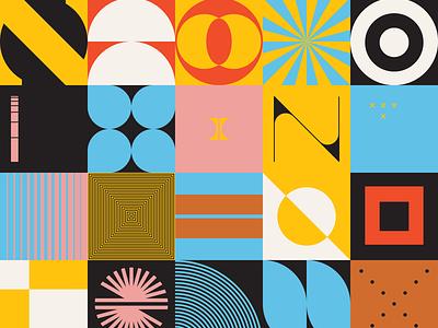 0111 shape color brutalism artwork abstract illustration design art freebie pattern geometric vector