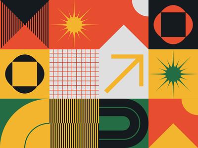 0143 postmodern background pattern freebie artwork geometric abstract vector