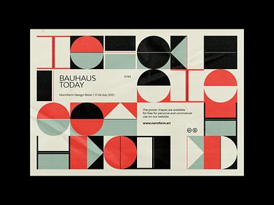 0144 bauhaus square design pattern freebie artwork geometric abstract vector
