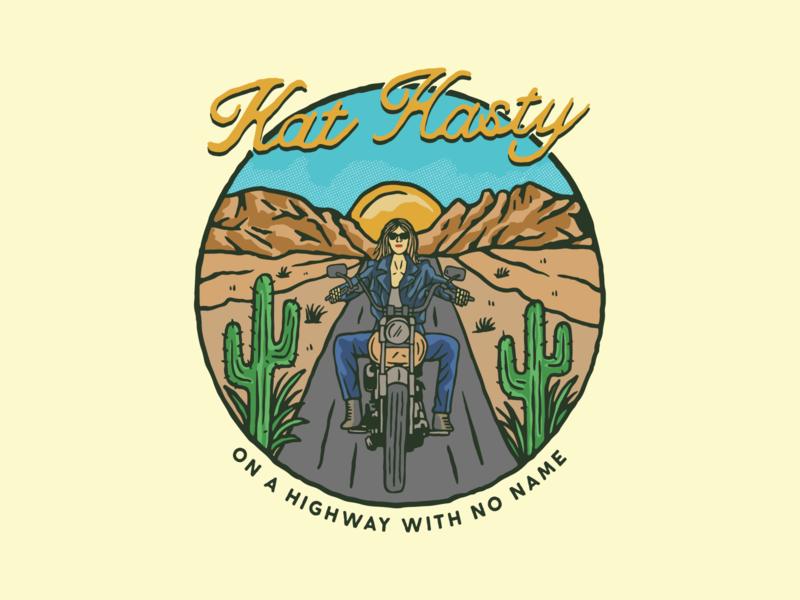 kat hasty 01 branding cloth music musician vintage apparel art lettering typography logo illustration design
