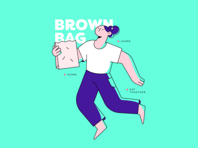 Brown Bag vector illustrator woman design 2d character illustration