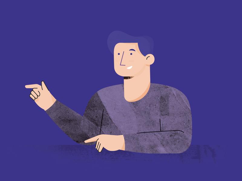 Character Test purple design 2d man textures character vector adobe illustrator illustrator illustration