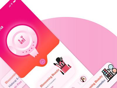 Smart Makeup Chooser user interface design user interface userinterface makeup app ui minimal app ui design app design app ux ui design