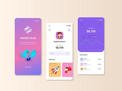 Finzeo app - Mobile App illustrations financial app finance app financial finance minimal app ui design app design app ui ux design