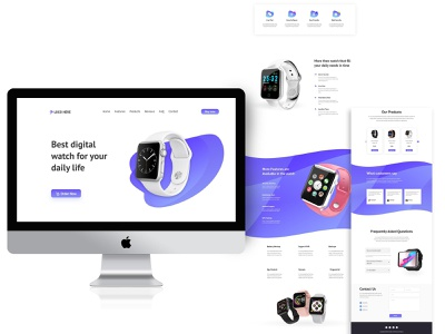 Smartwatch selling website page UI design product ui design ui  ux uiux uidesign smartwatch shopify web minimal ux ui design