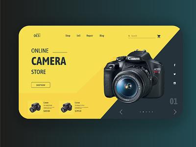 Camera Selling website UI Design online shop branding webdesign logo uidesign web minimal app design ui design