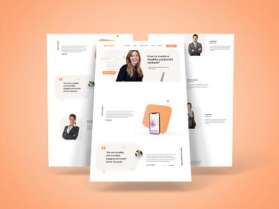 Corporate Training Website UI Design webdesign uidesign web minimal ui ux design