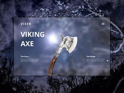 Viking Axe website UI design webuiuxdesign website uiux webui uidesign webdesign web minimal ui design