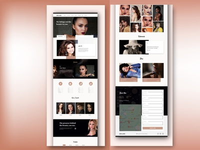Glamour Goddess Beauty Salon Website UI Design beauty salon webdesign web ui design cosmetics salon website ui web design